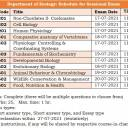 Schedule for Sessional Examination of Even Semesters, July 2021